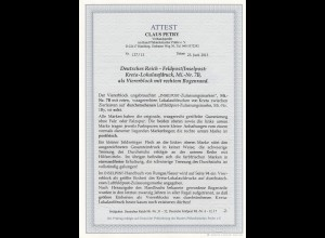 Feldpost: Kreta Lokalaufdruck, MiNr. 7B, Viererblock, **/*, BPP Attest, einmalig