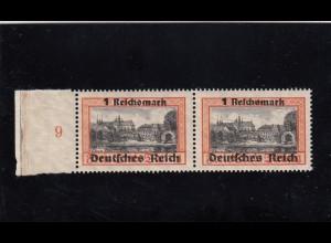 Deutsches Reich: MiNr. 728 und 728 xI, postfrisch im waagr. Paar