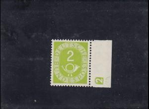 Bund: MiNr. 123 D2, postfrisch, Posthorn