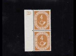 Bund: MiNr. 124 D2, postfrisch, Posthorn