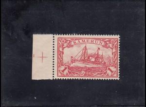 Kamerun: MiNr. 16, postfrisch, mit Platten Nr. 1