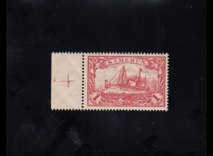 Kamerun: MiNr. 16, postfrisch, mit Platten Nr. 2