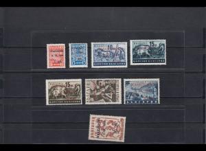 Makedonien: Landespost MiNr. 1-8, verschiedene Typen, postfrisch