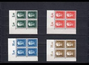 DR: MiNr. 403 - 406, postfrisch, Eckrand Viererblock