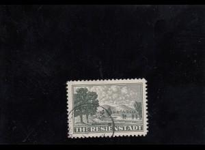 B&M: Theresienstadt 1943, Zulassungsmarke MiNr. 1, gestempelt 1944