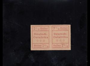 DOA: MiNr. IV W2, *, waagrechtes Paar