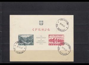 Serbien: MiNr. Block 2, gestempelt 1941, BPP Befund