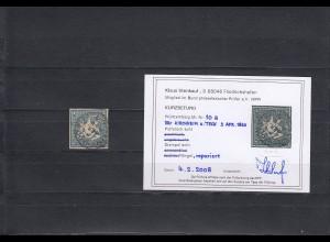 Württemberg: MiNr. 10a, gestempelt Kirchheim Teck, BPP Befund