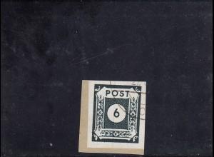 SBZ: MiNr. 43 A c, gestempelt Dresden, Farbfehldruck, Briefstück, BPP Attest