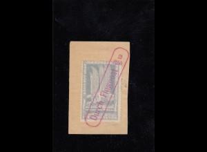DR: Halbamtliche Flugpost: MiNr. 4b, Briefstück, rote Entwertung 1912