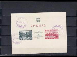 Serbien: 1941, MiNr. 1+2, gestempelt, geprüft
