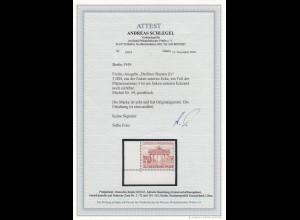 Berlin 1949: MiNr. 59, postfrisch, Eckrand E3, PlattenNr. 3, BPP Attest