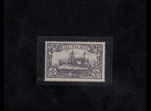 Kiautschou: 1905, MiNr. 26 A, original Gummi, *, BPP Attest