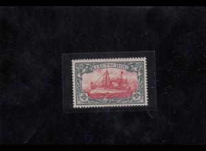Kiautschou: 1905, MiNr. 27 B, original Gummi, *, BPP Attest