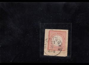 DR: MiNr. 8, gestempelt Briefstück, Thurn&Taxis Büdingen, BPP Befund