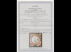 DR: MiNr. 21b, gestempelt Segeberg 1873, BPP Attest, Luxus