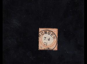 DR: MiNr. 24, gestempelt Hungen, 1874, BPP Attest