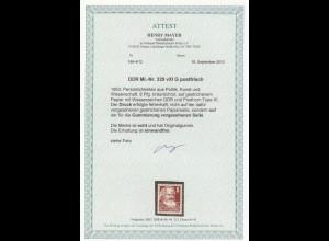 DDR: MiNr. 329 vXI G, postfrisch, Druck auf Gummierung