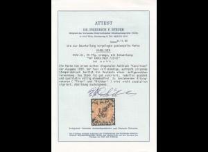 Karolinen: MiNr. 5I, gestempelt YAP 1901, VÖB Attest