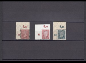 DR: MiNr. 362/363 und 362y, Eckrand E1, postfrisch