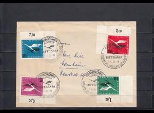 Bund: MiNr. 206II, auf Brief, Sonderstempel München, Eckrandmarken