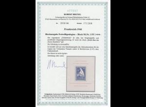 Dt. Besetzung II. WK: Frankreich: MiNr. Block I PF I, **, postfrisch