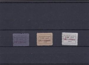 Ukraine 1941, Gebiet Sarny: MiNr. 3-6A, ohne Gummi, gepr. Pickenpack