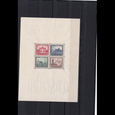 Deutsches Reich: Block Nr. 1, IPOSTA 1930, postfrisch, BPP Attest