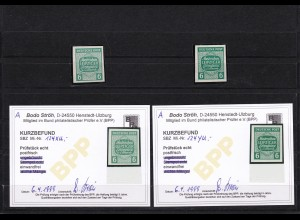 SBZ: MiNr. 124 XU und 124 YU, BPP Befunde, postfrisch