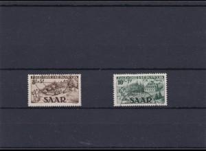 Saar: MiNr. 262-263, gestempelt, Ney BPP Signatur
