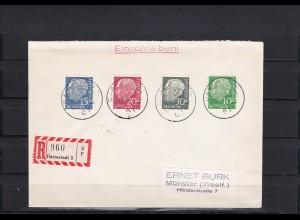 Bund: MiNr. 179-260y, Satzbrief Darmstadt