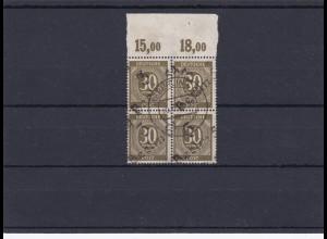 SBZ: MiNr. Ip im 4er Block mit Oberrand Platte, geprüft BPP und Infla