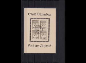 Lokalausgabe Strausberg, Block 2, Plattenfehler I, gestempelt