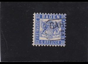 Baden: MiNr. 19 ab, gestempelt, BPP Attest