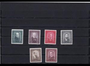 Österreich: MiNr. 545-550, postfrisch kpl.