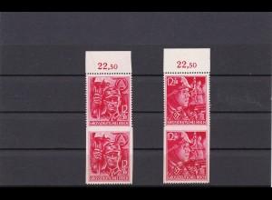 Deutsches Reich: MiNr. 909-910, Teilzähnung im senkrechten Paar, BPP Attest