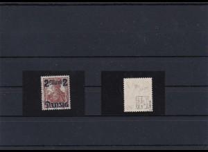 Danzig: MiNr. 28II, Stempel Danzig 1921, BPP Attest