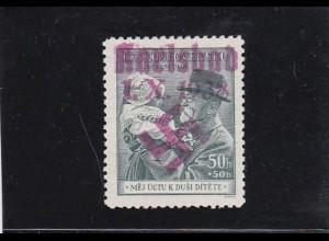 Sudetenland: MiNr. 51b, Karlsbad, *