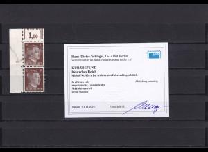 Deutsches Reich: MiNr. 826 a Pa, Eckrand, senkr. Paar, BPP Befund