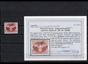 Feldpost/Inselpost: Michel Nr. 10 AbII, Falz, BPP Befund