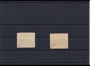 Feldpost MiNr. 8 BII, und MiNr. 9 *, je BPP signiert