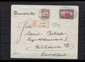 DSWA: MiNr. 23 auf Brief Windhuk nach Mülhausen 1907