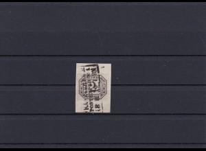 NDP: MiNr. D7, gestempelt, Briefstück, BPP Attest
