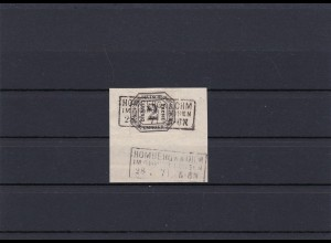 NDP: MiNr. D7, gestempelt, Briefstück, Signaturen