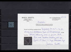 Bergedorf: MiNr. 1, gestempelt, Attest