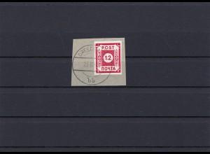 SBZ: MiNr. 41, gestempelt auf Briefstück, BPP Attest