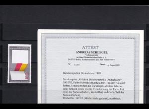 Bund: MiNr. 1421 F, postfrisch, BPP Attest