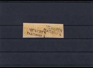 Bayern: MiNr. 8I, gestempelt, waagr. 3er Streifen, BPP Signatur