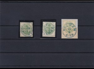 Hannover: MiNr. 21x, y und z, gestempelt, Signaturen