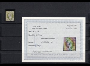 Hannover: MiNr. 18, gestempelt, BPP Befund
